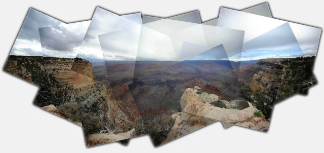 The Grand Canyon, a composite of 19 images