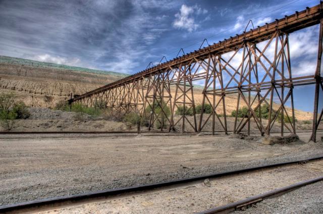 Abandoned mine tailings near Winkelman, AZ - HDR