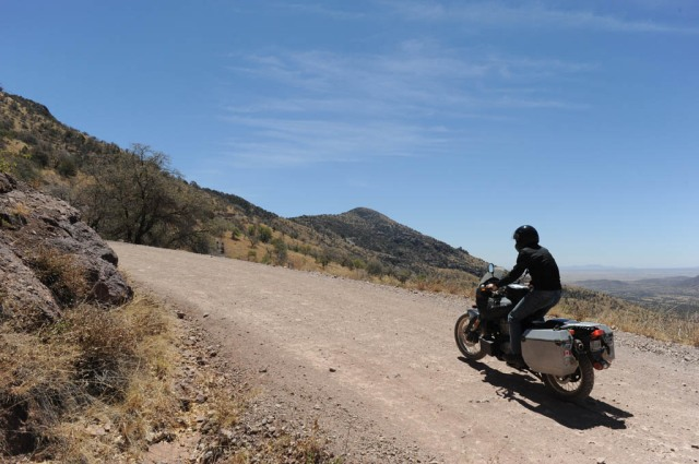 Riding south in the Huachuca Mountains