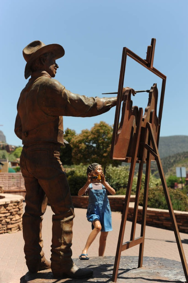 Whimsical statue in Sedona, AZ