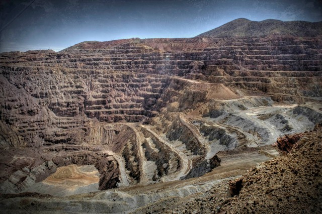 The Lavender Pit - The source of over 600,000 tons of copper between 1950 and 1974 - HDR