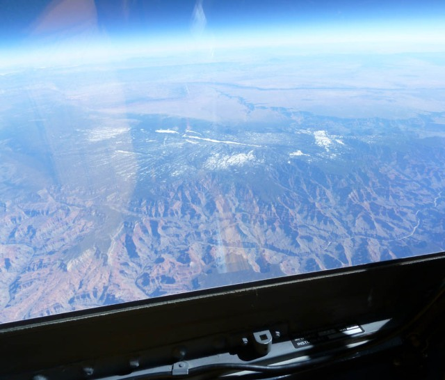 The Grand Canyon from 65,000 ft