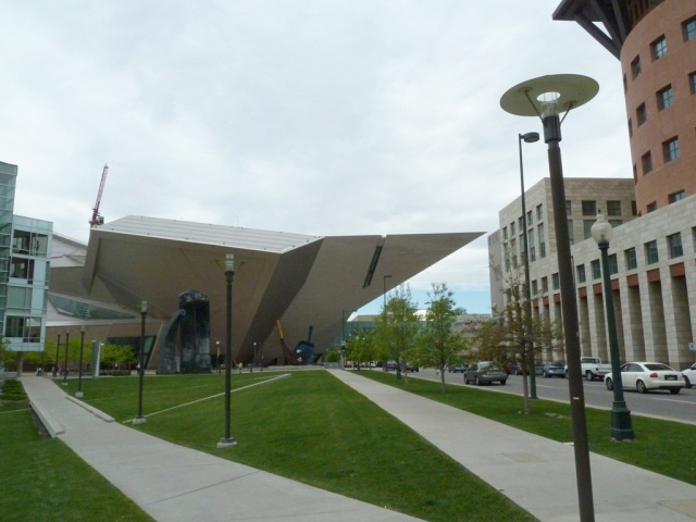 The Hamilton Building of the Denver Art Museum (DAM), designed by architect Daniel Libeskind