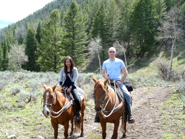 Riding Sally and Radish into the Absaroka mountains