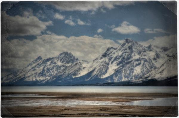 Mt. Moran and the Tetons over Jackson Lake