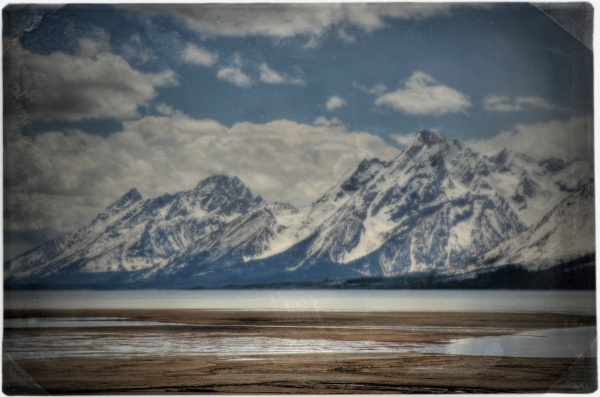 Mt. Moran and the Tetons over Jackson Lake