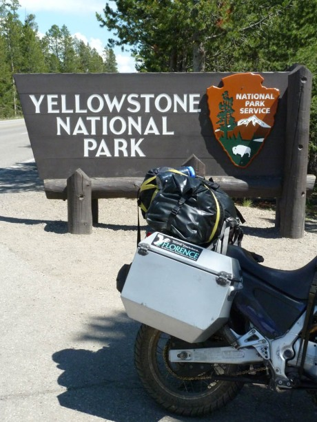 Entering Yellowstone National Park.