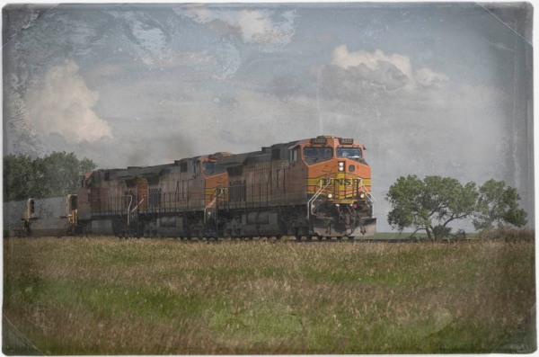 Burlington Northern Santa Fe train heading west.