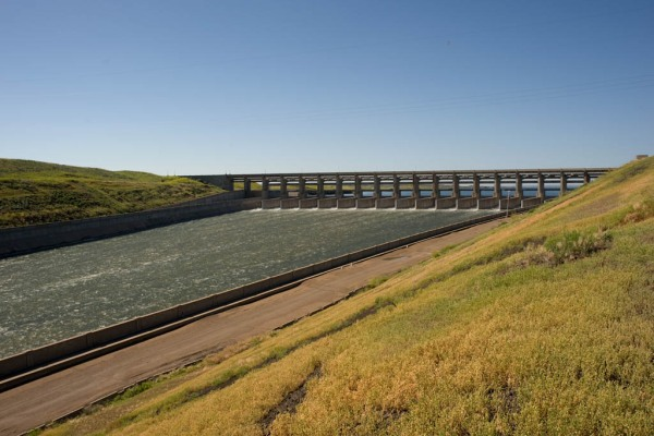 The Fort Peck spillway, in use for only the fourth time in 70 years.