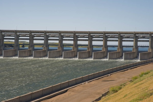 The Fort Peck spillway.