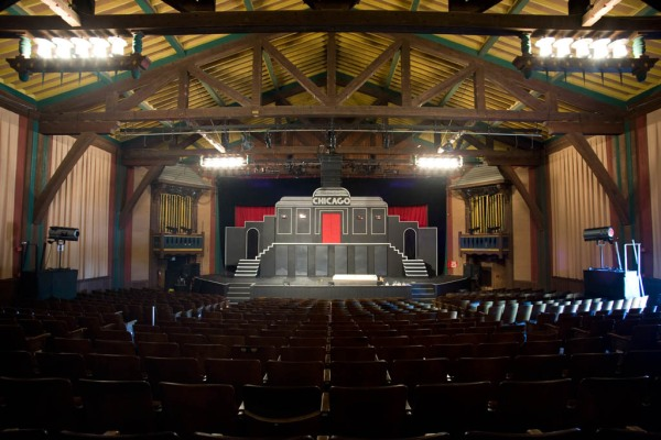 The Fort Peck Theatre preparing for a production of Chicago.