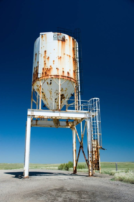 An abandoned structure like this demands to be photographed, and if sufficiently weakened by rust, to be climbed on.