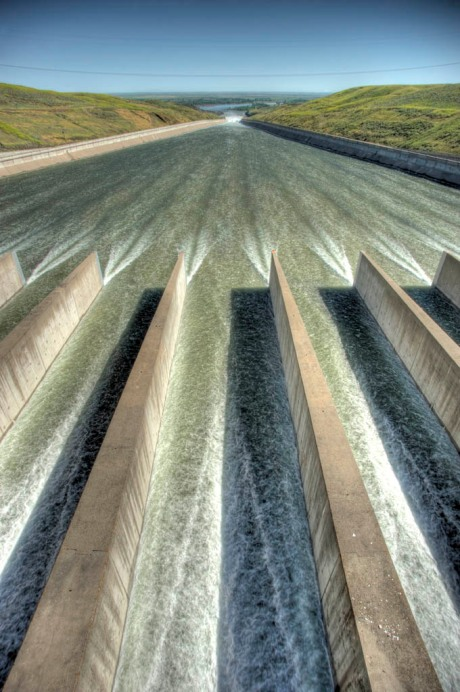 The Fort Peck spillway. Would be one hell of a kayak ride until you got to the bottom. - HDR