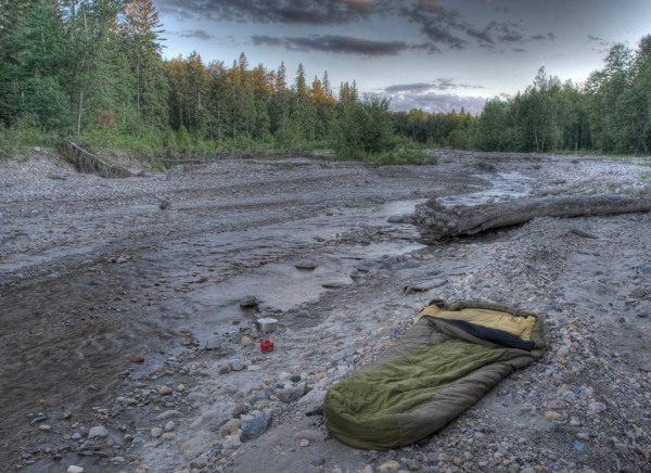 A picture is worth a thousand mosquito bites. Actually, I'm not sure if it is really worth it. Camping on the Rice River in Manitoba. - HDR