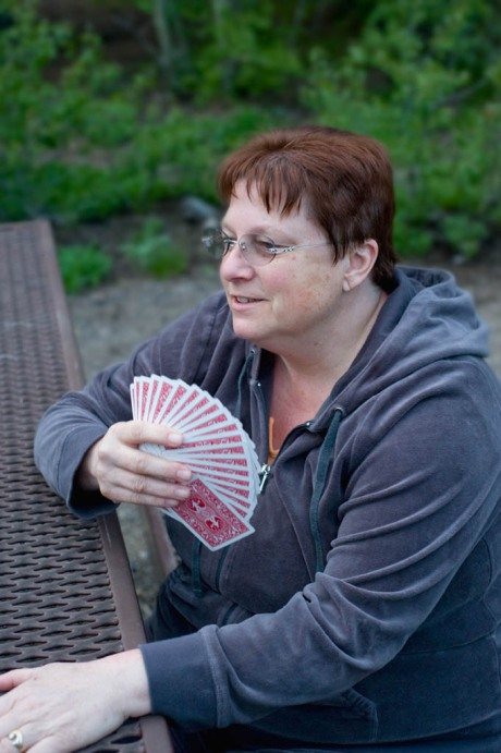 My sis Taryn the card shark.