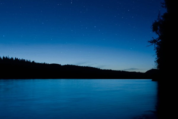 Dusk at Redfish Lake - Composite Image