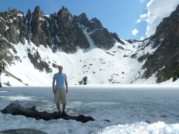 The 4th Bench Lake, still frozen at 8,650'.