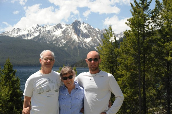 Mom, Dad and I at Redfish Lake, ID with the Sawtooth Wilderness in the background.