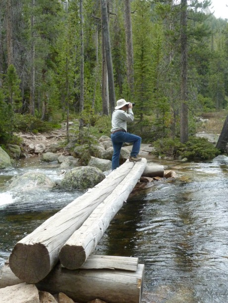 Dad taking pictures at Hell Roaring Lake.