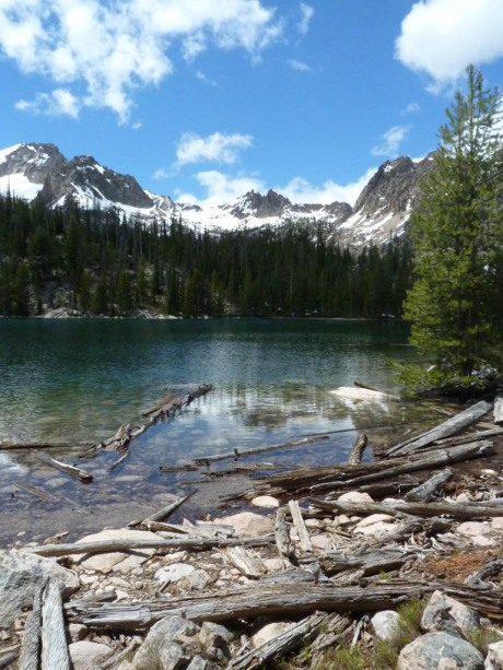 The previously un-named Cargo Lake below Decker Peak (10,704').