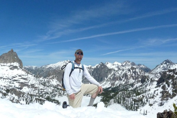 High point for the day at about 9,320' somewhere along Baron Divide.