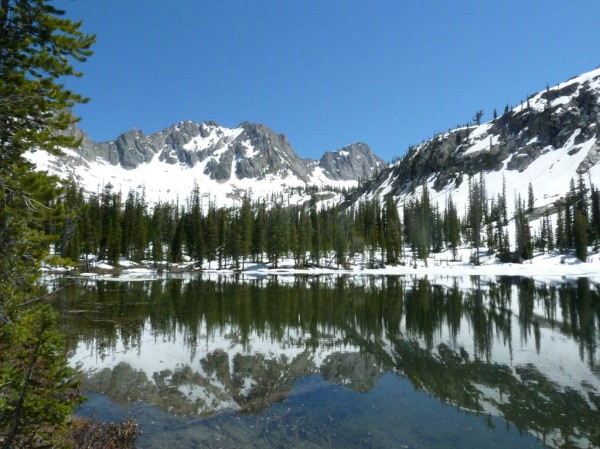 The barely thawed lower Cramer Lake.
