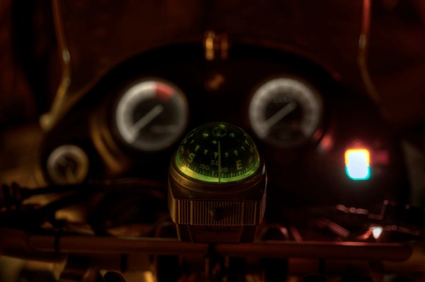New compass with wired in backlight, ready for clandestine nighttime missions. - HDR