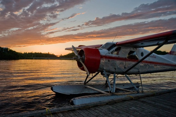 One of the floatplanes operated by Kenora Air Service, ready to take you anywhere on the Lake of the Woods and beyond.