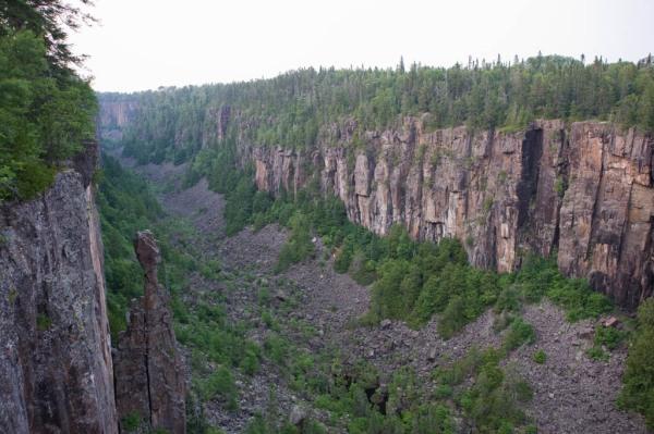Ouimet Canyon Provincial Park near Thunder Bay, Ontario.