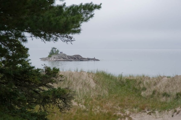 A secret island near Katherine Cove on Lake Superior, just a few minutes away from the highway via a local's only path through the woods.