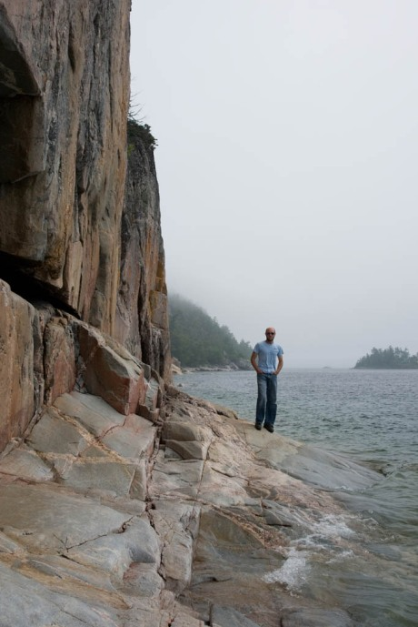 Yours truly at the Agawa Rock Indian Petroglyphs.