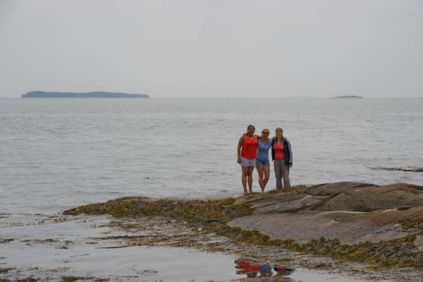 Adri, Brittany, and Eugenia at Birch Point Beach State Park.