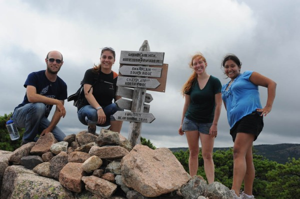 On the summit of Champlain Mountain (1,058') after scaling the Precipice.