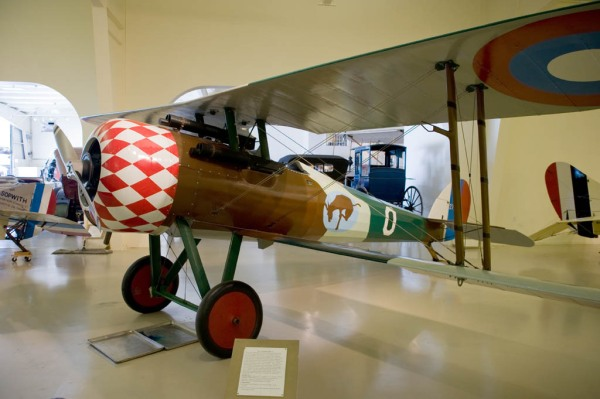 A 1917 French Nieuport 28 C.1 at the Owl's Head Transportation Museum.