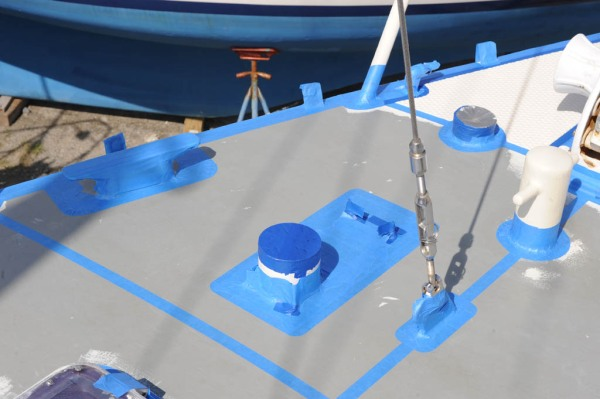 Areas on the foredeck masked.