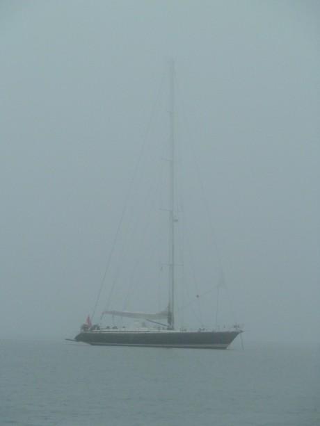 Anchored off Cuttyhunk Island.