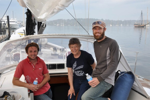 Thanks Nicolas, safe sailing and I'll see you somewhere in the Caribbean! (Photo by Dad)