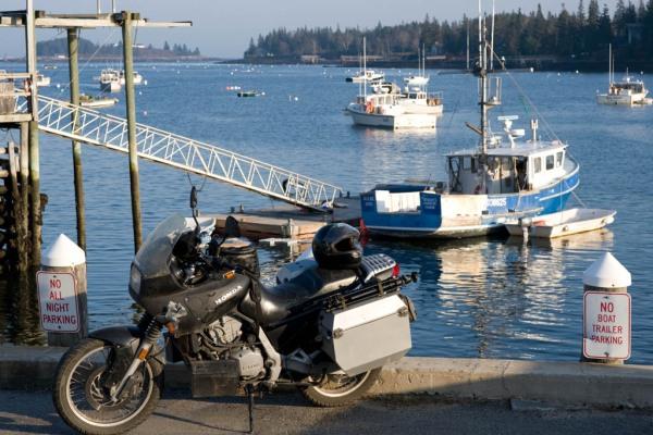 Lobster boats in Tenants Harbour.
