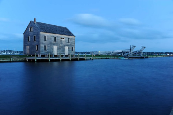A calm twilight on the Salem waterfront.