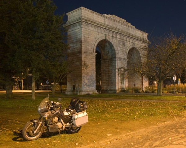 The Perry Memorial Arch in Bridgeport, CT.