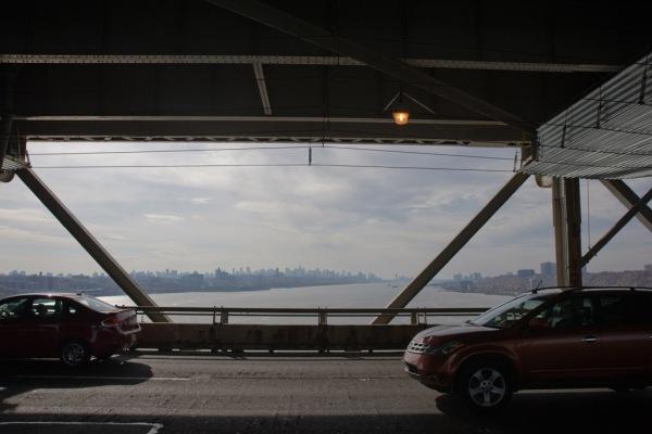 View of NYC from the George Washington Bridge.