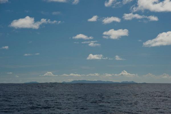 Sint Maarten on the horizon.