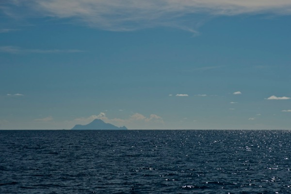 The island of Saba in the distance, a Shangri-La my folks and I were lucky enough to anchor at and go ashore for a day 16 years ago.