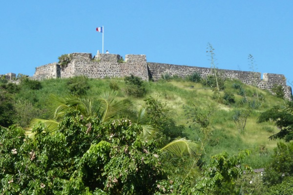 A fort on the French side of St. Martin.
