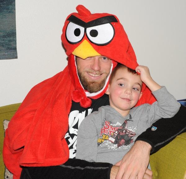 Jace and I (the Christmas Angry Bird).