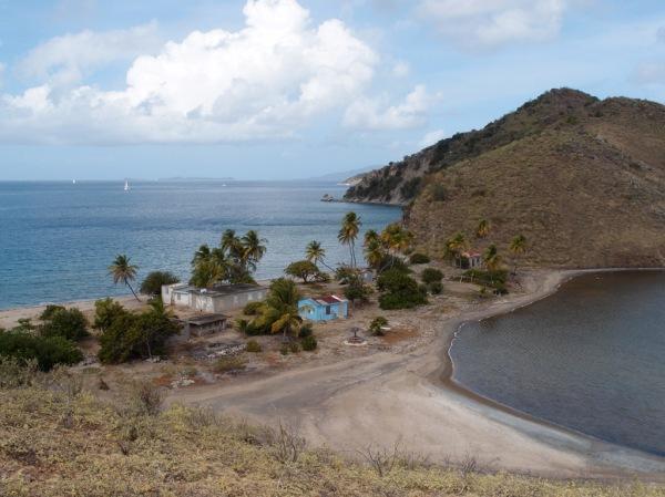 One of the two salt ponds on Salt Island.
