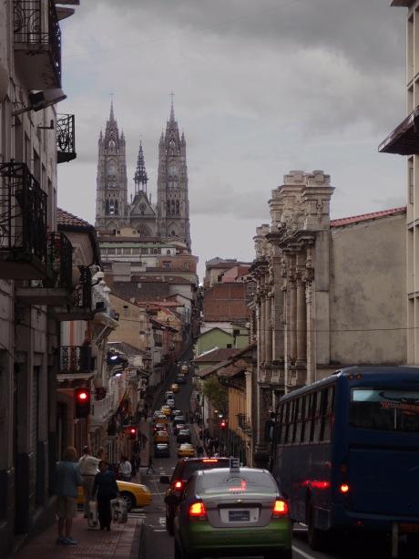 The Basílica del Voto Nacional in Quito.