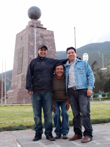 Marcello, Don Luis, and Giovanni at el Mitad del Mundo.