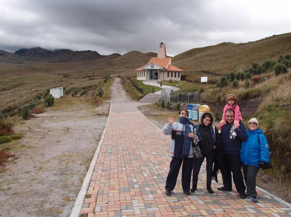 Lucy and her family on Rucu Pichincha after we rode the Teleférico (aerial tram) skyward from Quito.