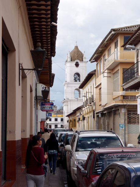 The streets of Latacunga.